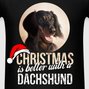 Dachshund - Christmas is better with a Dachshund - Men's T-Shirt