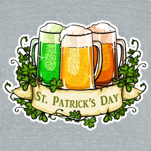 St Patrick's Day - Unisex Tri-Blend T-Shirt by American Apparel