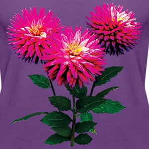Three Pink Dahlias Tanks - Women's Premium Tank Top