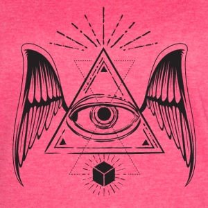 All seeing eye with wings T-Shirts - Women's Vintage Sport T-Shirt