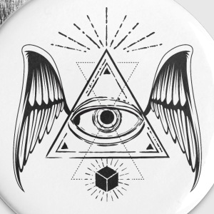 All seeing eye with wings Buttons - Small Buttons