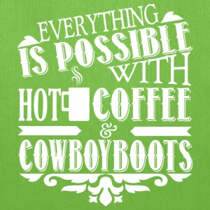 Hot Coffee & Cowboyboots Bags & backpacks - Tote Bag