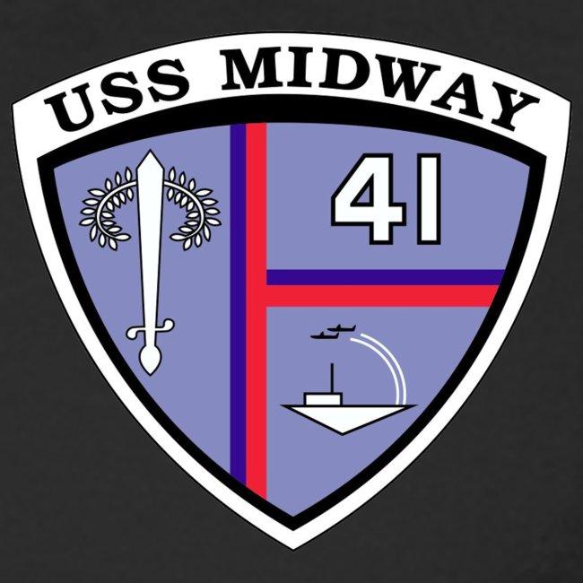 USS MIDWAY CV-41 1982-85 CUSTOM CRUISE SHIRT - LONG SLEEVE