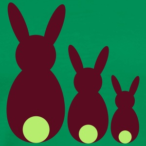 three easter rabbits - Men's Premium T-Shirt