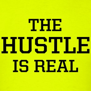 The Hustle Is Real Men's Tee Neon - Men's T-Shirt