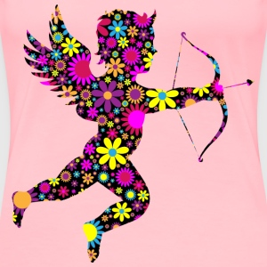 Floral Martin74 s Cupid Silhouette - Women's Premium T-Shirt