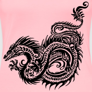 Tribal Sea Serpent/Dragon - Women's Premium T-Shirt