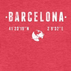 Barcelona T-Shirts - Fitted Cotton/Poly T-Shirt by Next Level