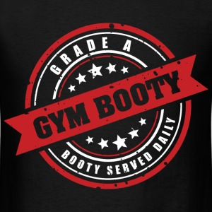 Gym Booty: Grade A Booty (Black) - Men's T-Shirt