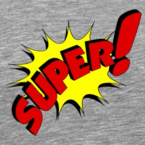super in comic style - Men's Premium T-Shirt