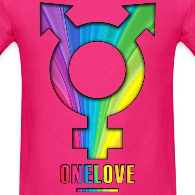 ONELOVE RAINBOW MALE - back+front - s/3xl - multi colors
