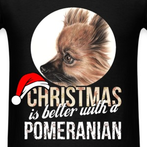 Pomeranian - Christmas is better with a Pomeranian - Men's T-Shirt