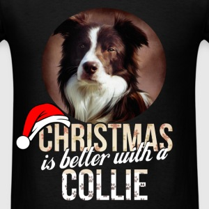 Collie - Christmas is better with a Collie - Men's T-Shirt