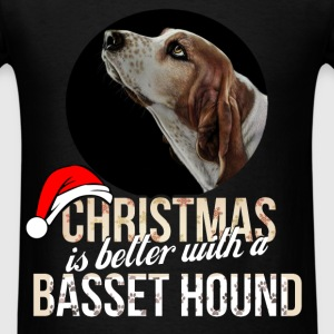 Basset hound - Christmas is better with Basset Hou - Men's T-Shirt
