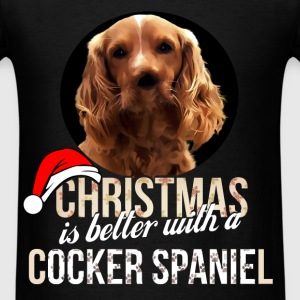 Cocker spaniel - Christmas is better with a Cocker - Men's T-Shirt