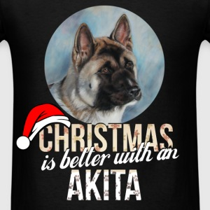 Akita - Christmas is better with an Akita - Men's T-Shirt