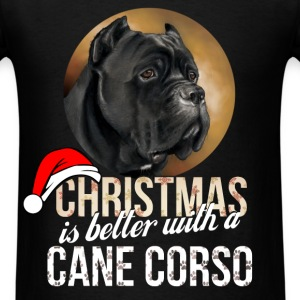 Cane corso - Christmas is better with a Cane Corso - Men's T-Shirt