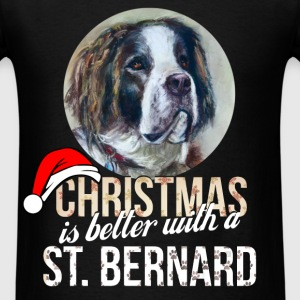 St. Bernard - Christmas is better with a St. Berna - Men's T-Shirt