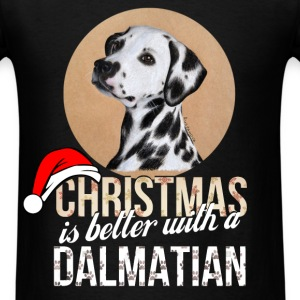 Dalmatian - Christmas is better with a Dalmatian - Men's T-Shirt
