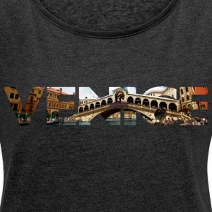 Venice Rialto canal typo T-Shirts - Women´s Rolled Sleeve Boxy T-Shirt