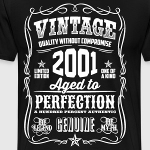 2001 Aged to Perfection White print - Men's Premium T-Shirt