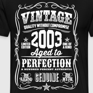 2003 Aged to Perfection White print - Men's Premium T-Shirt