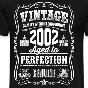 2002 Aged to Perfection White print - Men's Premium T-Shirt