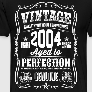 2004 Aged to Perfection White print - Men's Premium T-Shirt