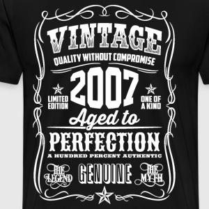 2007 Aged to Perfection White print - Men's Premium T-Shirt