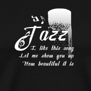 Funky Jazz Music Design - Men's Premium T-Shirt
