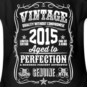 2015 Aged to Perfection White print - Short Sleeve Baby Bodysuit