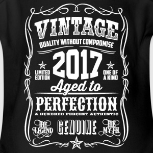 2017 Aged to Perfection White print - Short Sleeve Baby Bodysuit