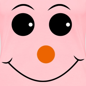 Red Nosed Smiley Face - Women's Premium T-Shirt