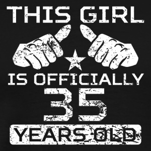 This Girl Is Officially 35 Years Old - Men's Premium T-Shirt