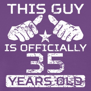 This Guy Is Officially 35 Years Old - Men's Premium T-Shirt