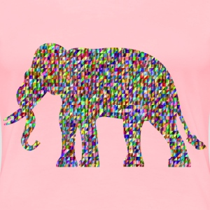Chromatic Triangular Elephant - Women's Premium T-Shirt