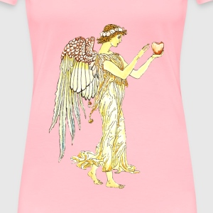 Angel with apple - Women's Premium T-Shirt