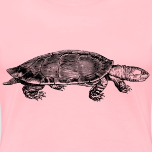 Yellow spotted river turtle - Women's Premium T-Shirt