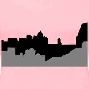 Middle Eastern Cityscape Silhouette - Women's Premium T-Shirt