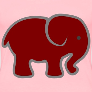 Red Baby Elephant - Women's Premium T-Shirt