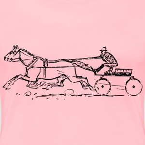 Ceffyl a chart | Horse and cart - Women's Premium T-Shirt