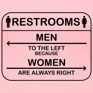 Left and Right Restrooms - Women's Premium T-Shirt
