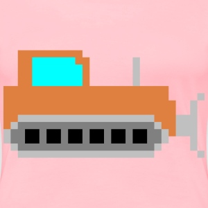 Pixel art bulldozer - Women's Premium T-Shirt