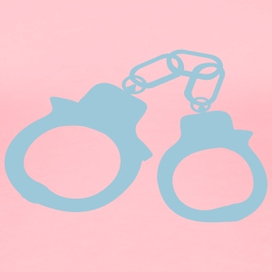 Large Handcuffs Light Blu - Women's Premium T-Shirt