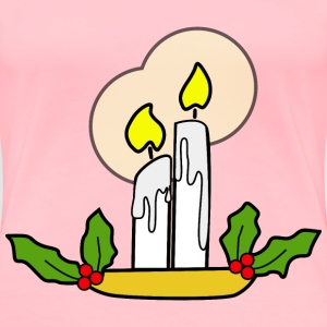 Christmas Candles - Women's Premium T-Shirt