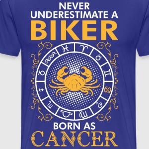 Never UnderNever Underestimate A Biker Born As Can T-Shirts - Men's Premium T-Shirt