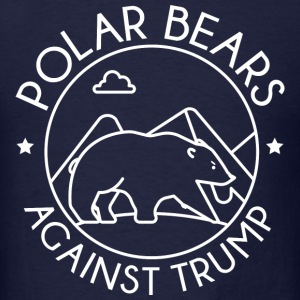 Polar Bears Against Trump - Men's T-Shirt