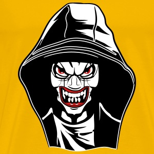 Horror face evil monster hood T-Shirts - Men's Premium T-Shirt