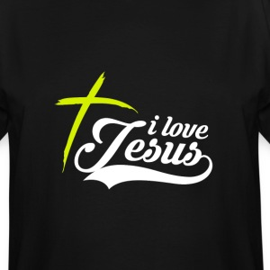 I love Jesus shirts design T-Shirts - Men's Tall T-Shirt