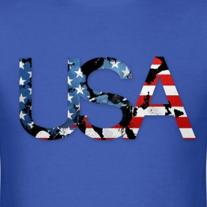USA america flag art T-Shirts - Men's T-Shirt